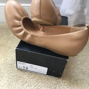 J. Crew Factory Anya Leather Ballet Flats